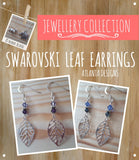 JEWELLERY - Swarovski & Leaf Earrings