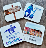 Illustrated Country Coasters