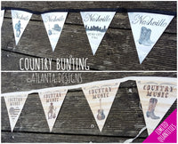 COUNTRY & COWBOYS - Bunting - Illustrated Gifts