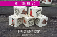 COUNTRY & COWBOYS - Nashville Fund Money Boxes - Illustrated Gifts