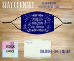 Face Mask With Filter - Stay Country