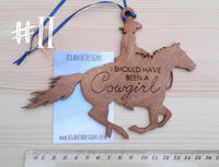 Engraved Country Hanging Decorations