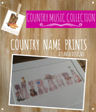 Personalised Name Watercolour Prints - Country & Cowboys