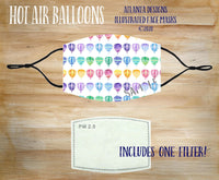 Face Mask With Filter - Balloons