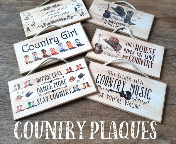 Country Plaques - All Designs