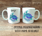 PERSONALISE ME! Sea Turtle Mug with Optional Coaster Upgrade