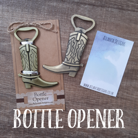 Cowboy Boot Country Bottle Opener