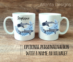 PERSONALISE ME! Whale Shark Mug with Optional Coaster Upgrade