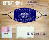 Face Mask With Filter - Ain't Country