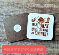 PERSONALISE ME! Country Music Home Mug with Optional Coaster Upgrade