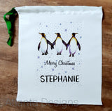 Personalised Christmas Stocking - Penguins
