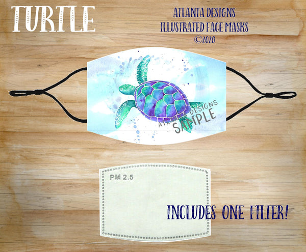 Face Mask With Filter - Turtle