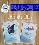 SCUBA DIVING - Christmas Cards - Illustrated Gifts