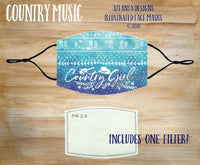 Face Mask With Filter - Cowgirl - Country Music