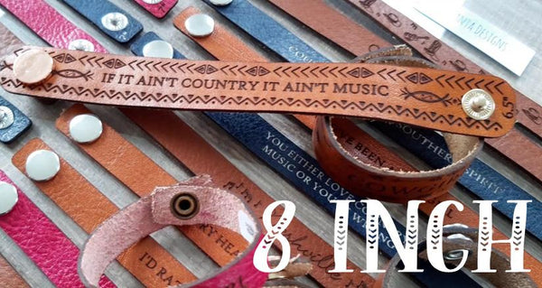 "8"" Thick Country Leather Bracelets"