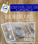 SCUBA DIVING - Real Shell Necklaces - Jewellery