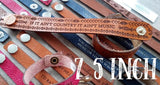"7.5"" Thick Country Leather Bracelets"