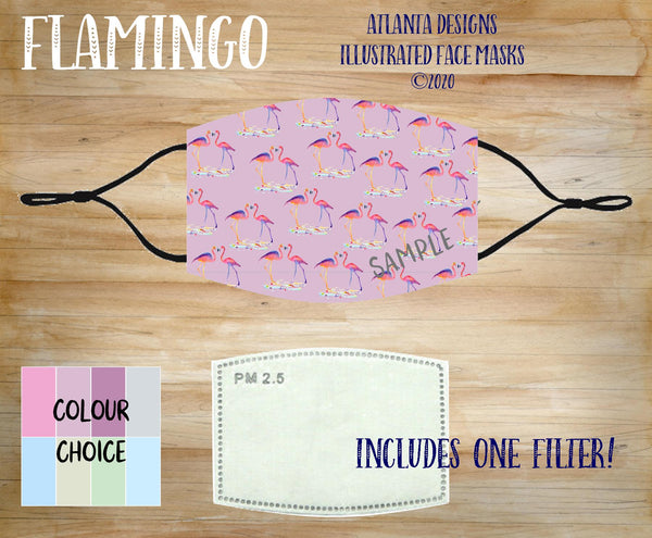 Face Mask With Filter - Flamingo