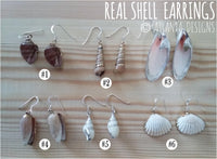 SCUBA DIVING - Real Shell Earrings - Jewellery