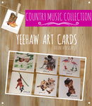 COUNTRY & COWBOYS - Art Cards - Illustrated Gifts