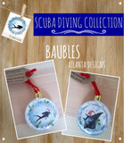SCUBA DIVING - Christmas Baubles - Illustrated Gifts