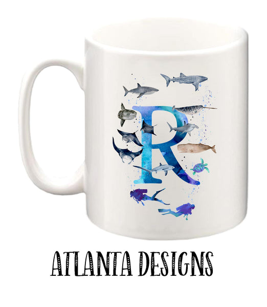 Personalised Name Mug - Diving & Sealife