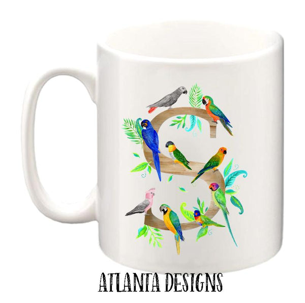 Personalised Name Mug - Parrots
