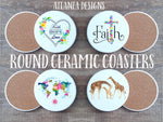 Over 190 Designs! Ceramic Custom Made Coasters - GBF