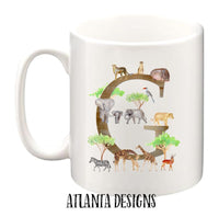 Personalised Name Mug - Safari
