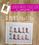 COUNTRY & COWBOYS - XXL Watercolour Prints - 40x50cm A3+