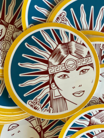 Tia Chucha's Circle Vinyl Sticker 3x3
