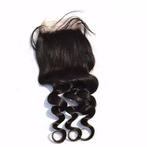 Closure hair loose wave silk base (free shipping) - beautyshopbygoldenyaa.com