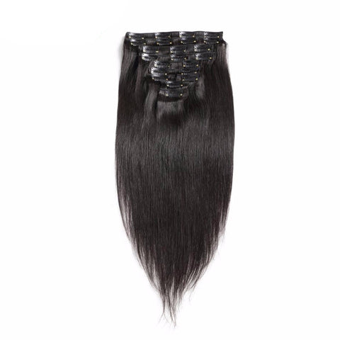 Clip-in straight hair extensions (free shipping) - beautyshopbygoldenyaa.com