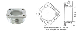 "Rochester Gauges 0022-00007 2-1/2"" Bolt Circle Zinc Adapter"