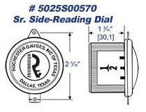 Rochester Gauges Side Read Dial Capsule 5025S00570