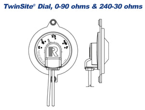 Rochester Gauges 6540-00252 TwinSite® Adjustable Gauge, 240-30 Ohms