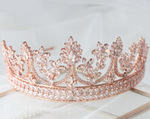 Rose Gold Cubic Zirconia Crown Tiara