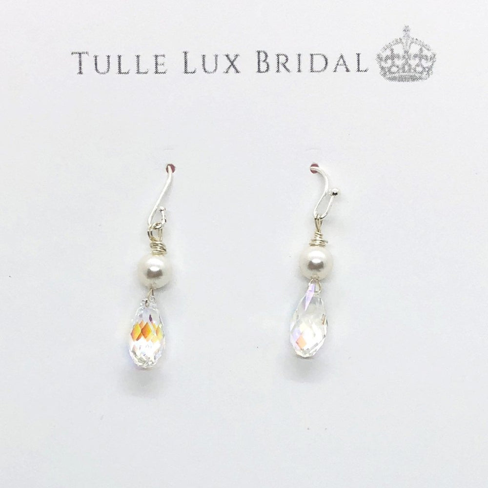 Crystal & Pearl Dangle Earrings