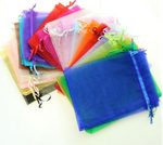 100/pcs Large Size Drawstring Organza Bags Pouches For Birthday, Wedding, Party  Gift Bag