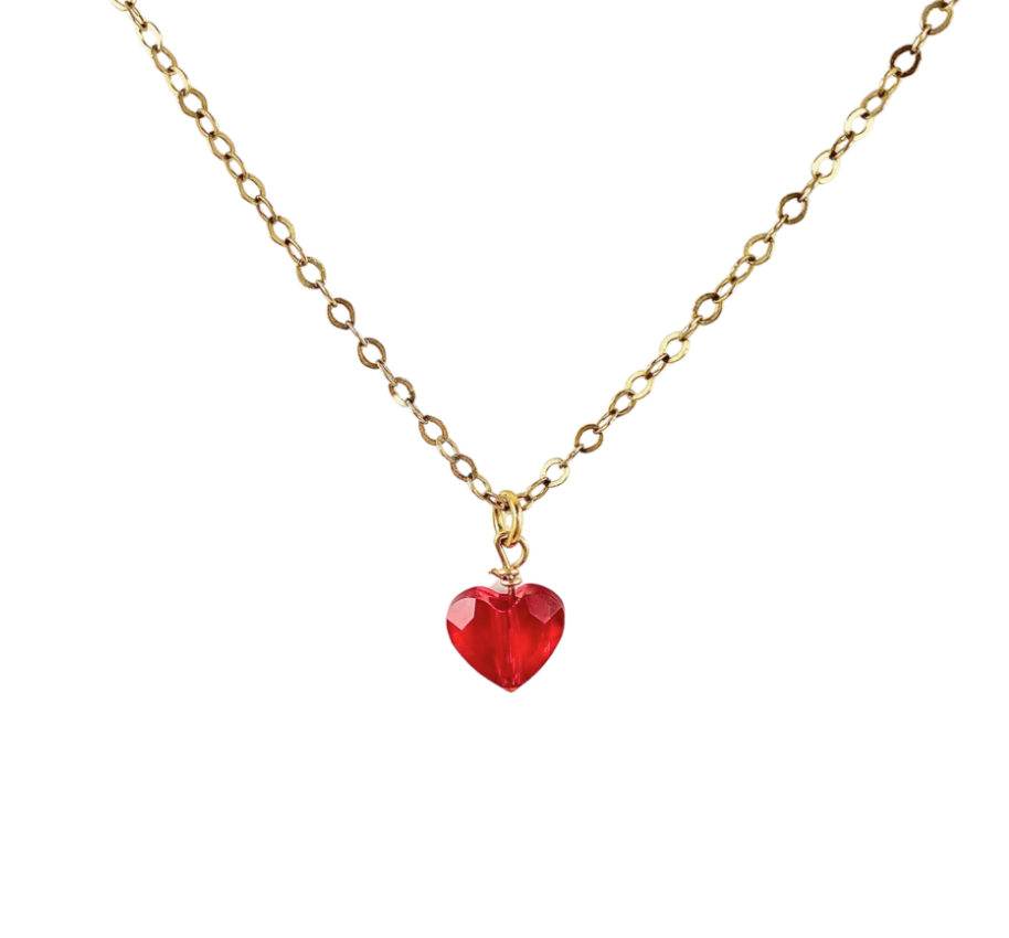 Tulle Lux Girls Inc. Crystal Heart Necklace