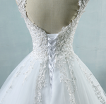 Tulle Wedding Dress with Pearls and Lace Appliques - TulleLux Bridal Crowns &  Accessories