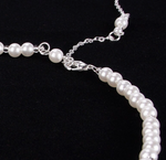 Simple Pearl Back Drop Chain  Long Back Necklace Pearl Wedding Bridal Jewelry
