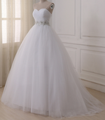 Corset Sweetheart Wedding Dress with Decorative Sash