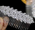 Cubic Zirconia Bridal Comb Wedding Day Hair Accessory