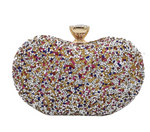 Boutique Multicolored Diamond  Clutch Evening Bags  Crystal Flower Handbag