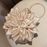 3D Flower Evening Clutch Small Purse