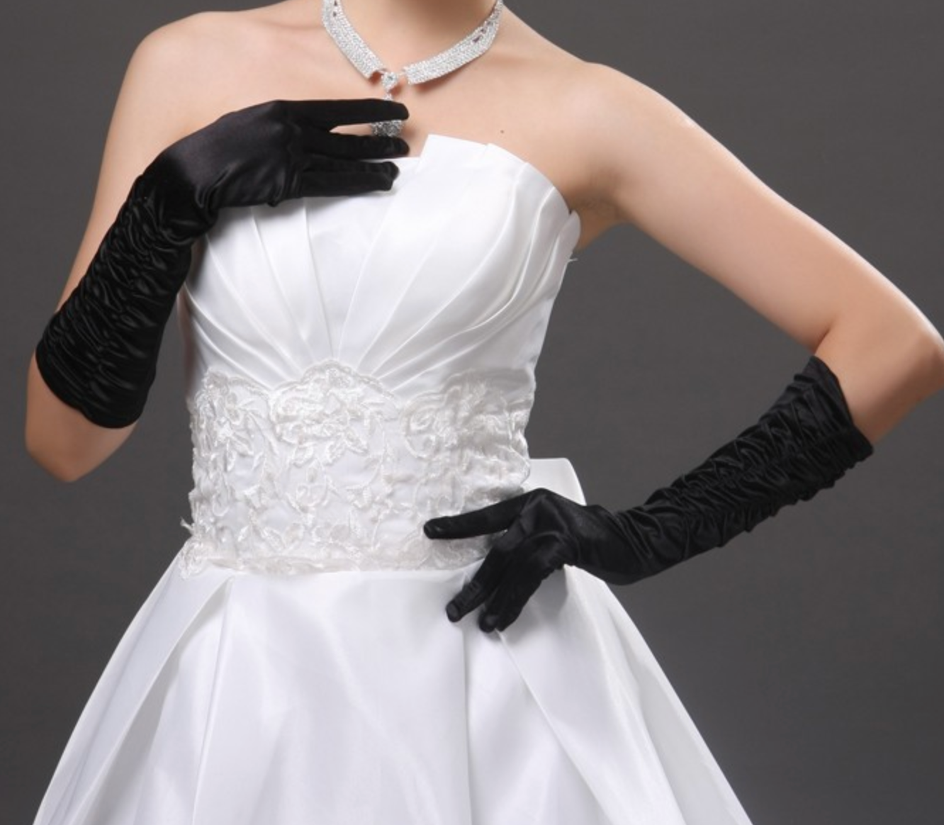 Long Satin Elegant Pageant Party Gloves - TulleLux Bridal Crowns &  Accessories