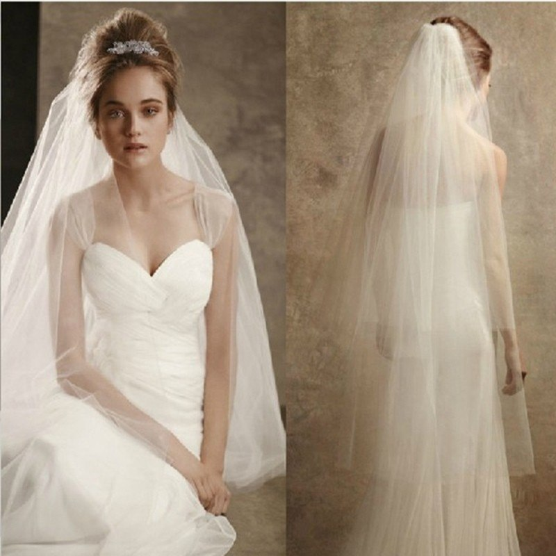 Soft Tulle Bridal Wedding Veil with Comb