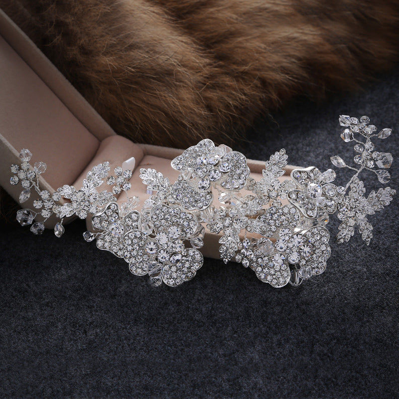 Luxury Wedding Bridal Crowns Headbands Silver Color Tiara Austria Crystal Rhinestone Hair Band Bridal Jewelry