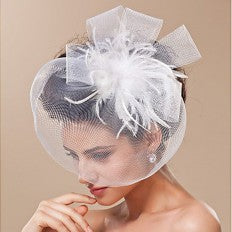 Birdcage Bridal Hats Artificial Flowers  Feather Veils